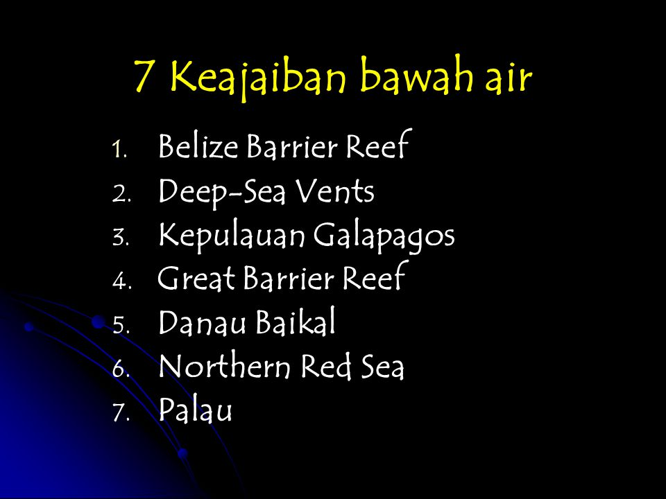7 Keajaiban bawah air Belize Barrier Reef Deep-Sea Vents