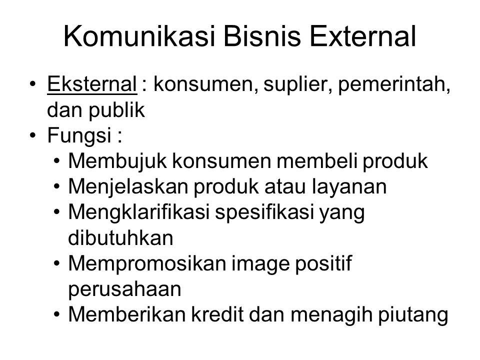 Komunikasi Bisnis External