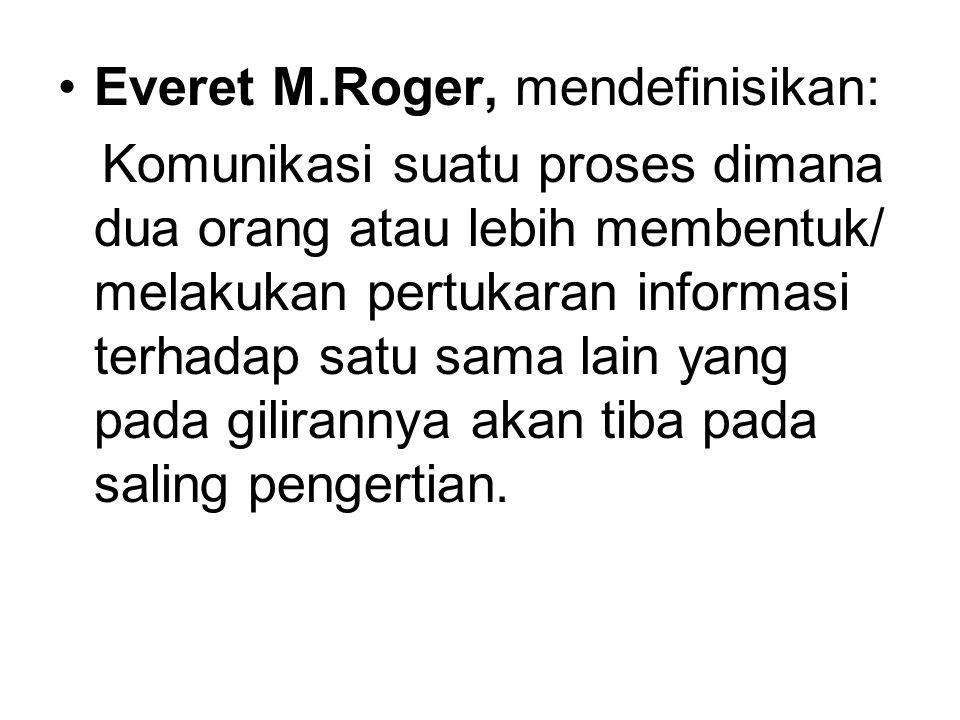 Everet M.Roger, mendefinisikan:
