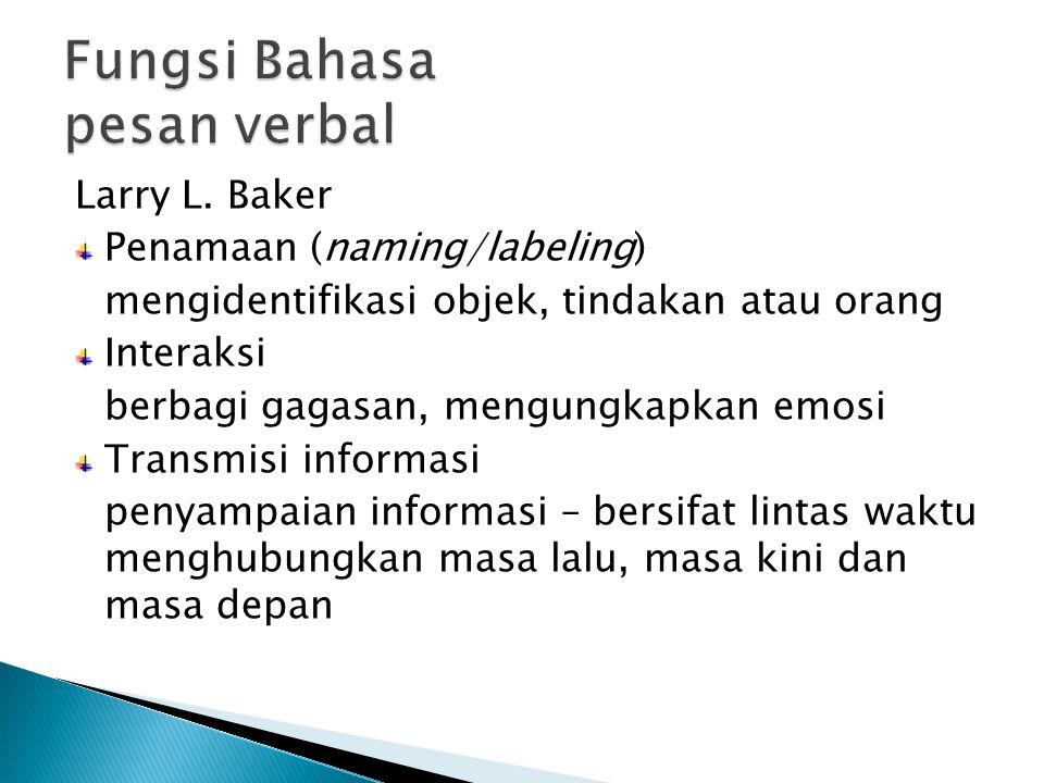 Fungsi Bahasa pesan verbal