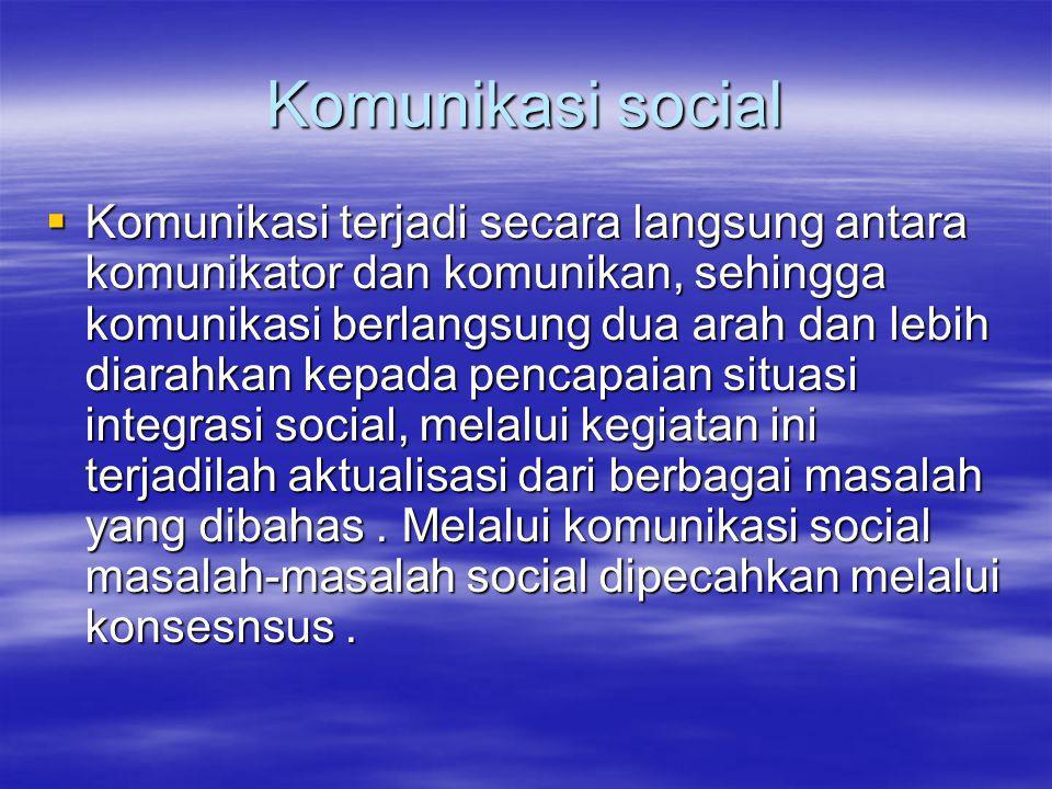 Komunikasi social