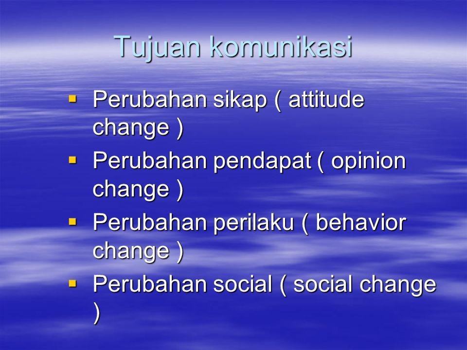 Tujuan komunikasi Perubahan sikap ( attitude change )