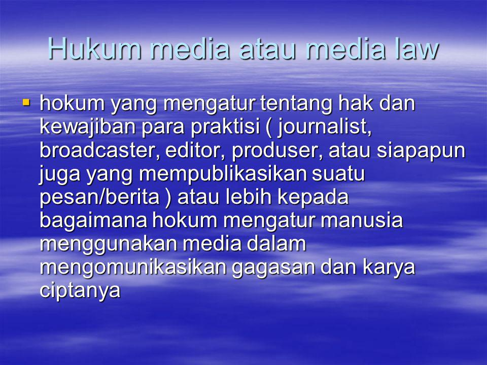 Hukum media atau media law
