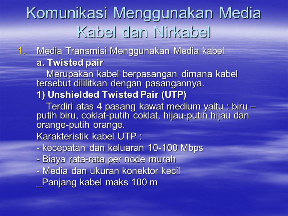 Komunikasi Menggunakan Media Kabel dan Nirkabel