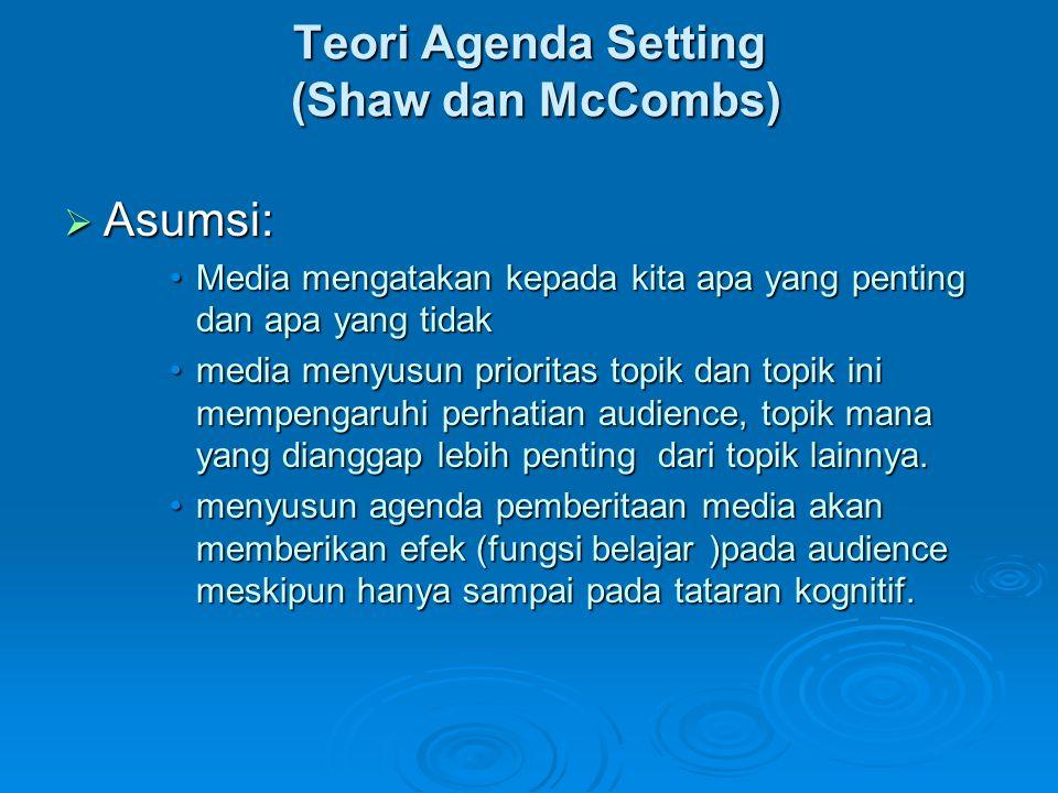 Teori Agenda Setting (Shaw dan McCombs)
