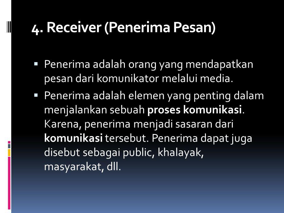 4. Receiver (Penerima Pesan)
