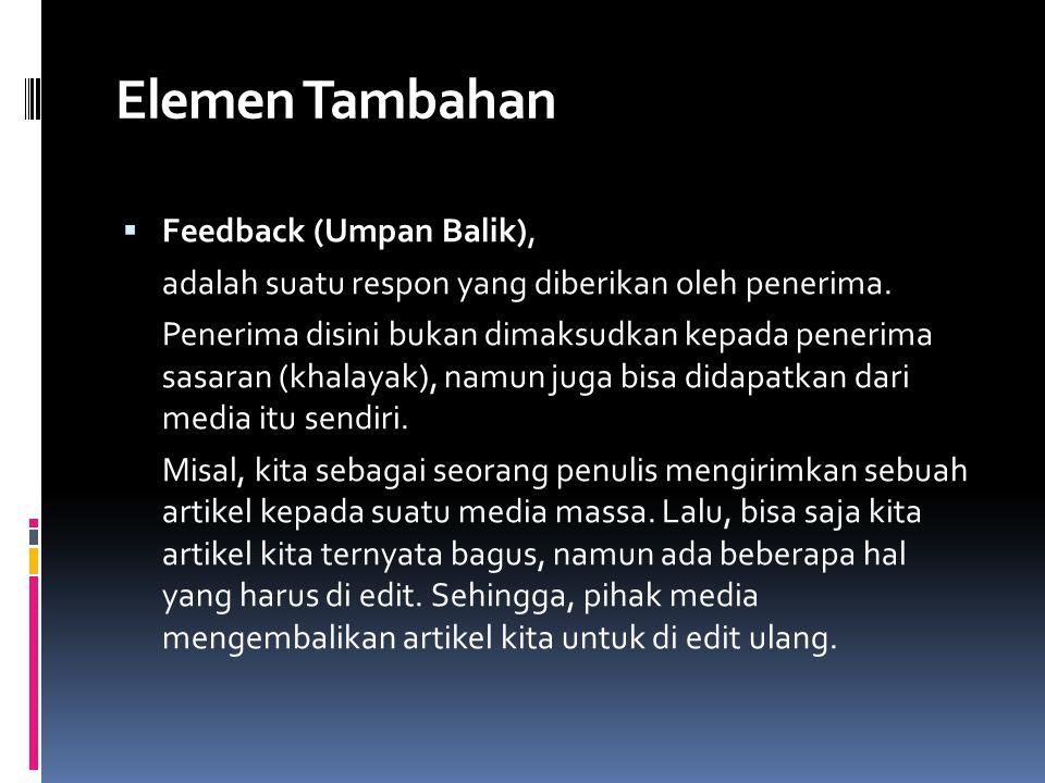Elemen Tambahan Feedback (Umpan Balik),