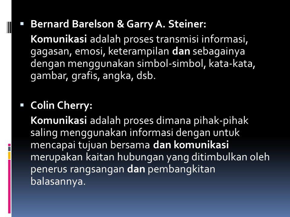 Bernard Barelson & Garry A. Steiner: