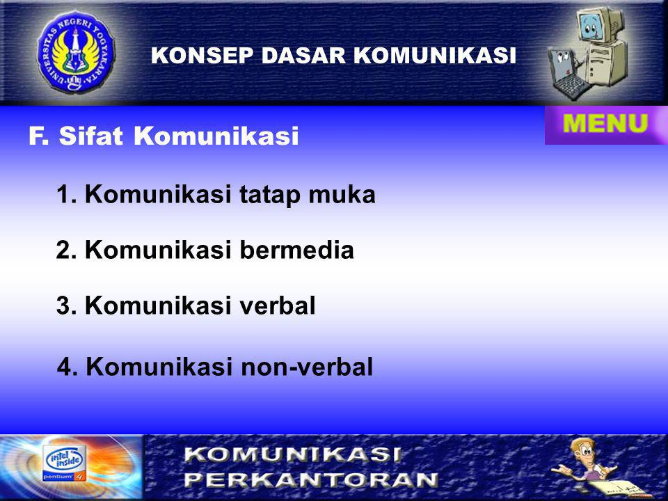 4. Komunikasi non-verbal