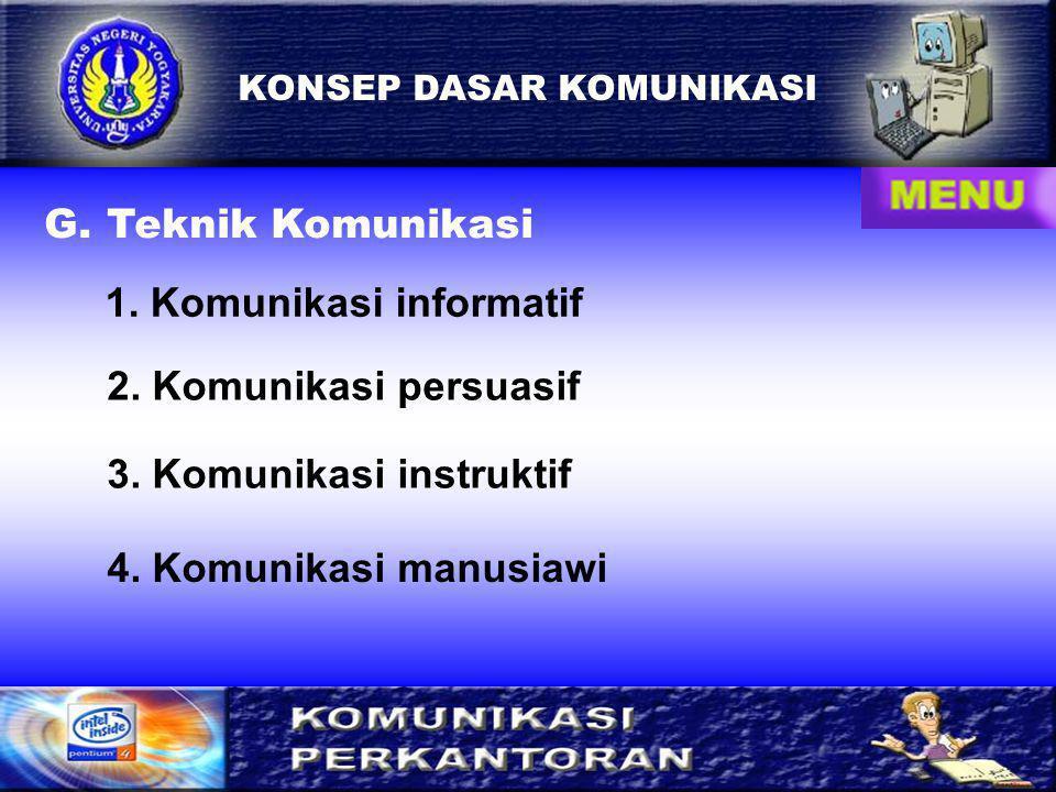 1. Komunikasi informatif