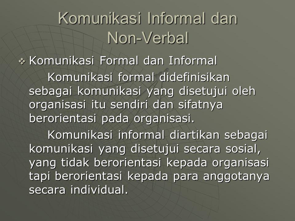 Komunikasi Informal dan Non-Verbal