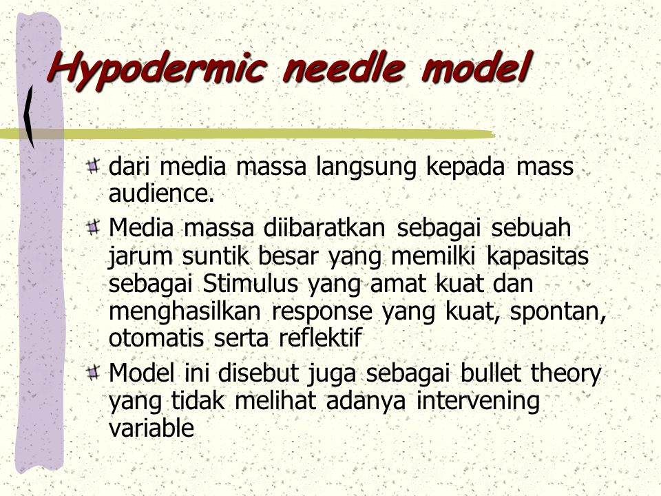 Hypodermic needle model