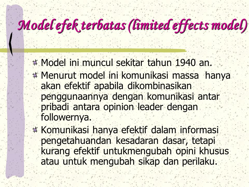 Model efek terbatas (limited effects model)