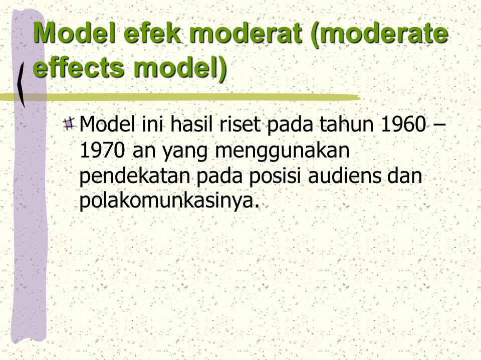 Model efek moderat (moderate effects model)