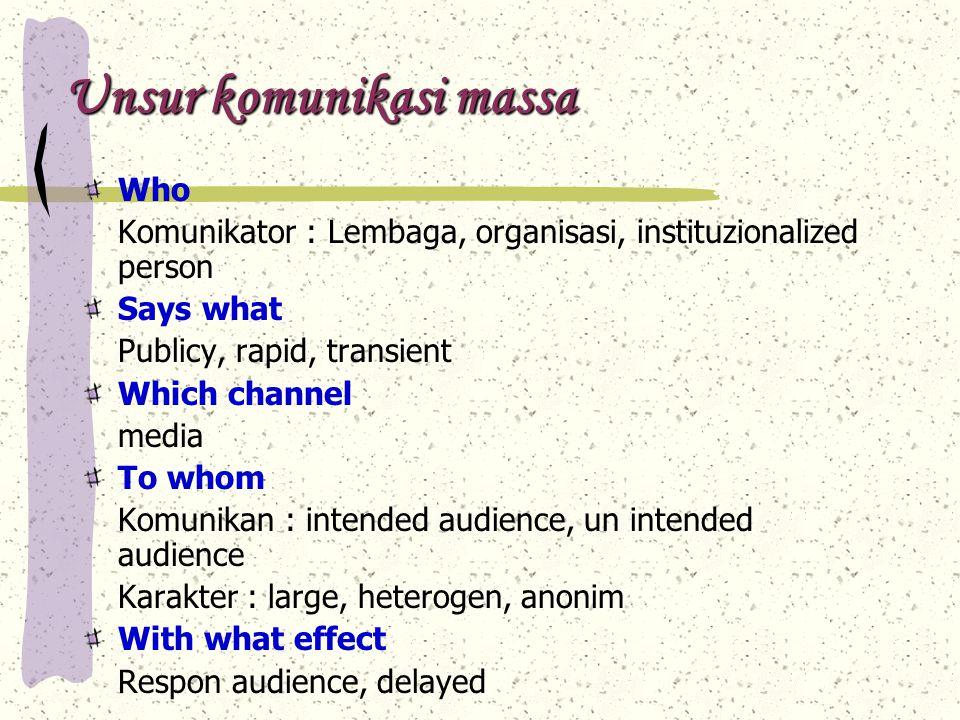 Unsur komunikasi massa
