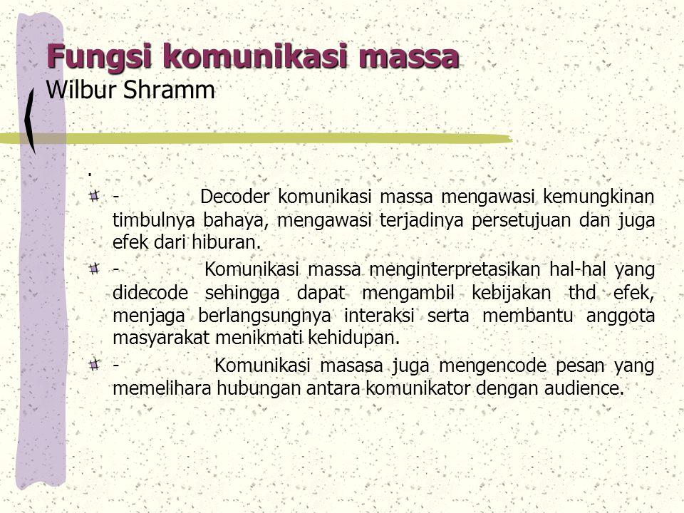 Fungsi komunikasi massa Wilbur Shramm