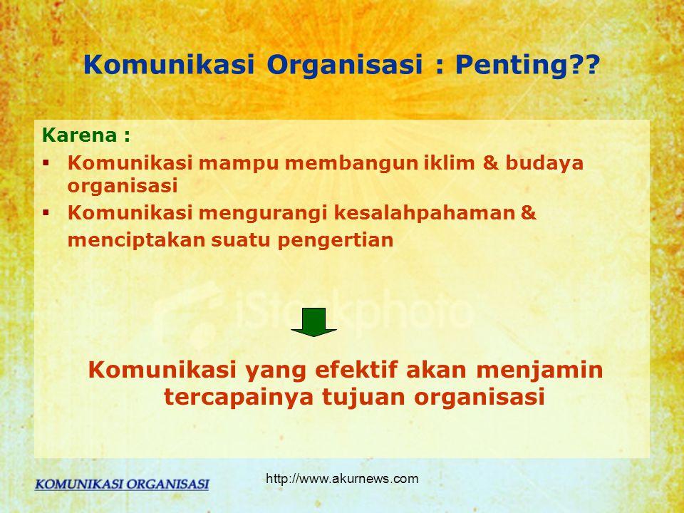 Komunikasi Organisasi : Penting