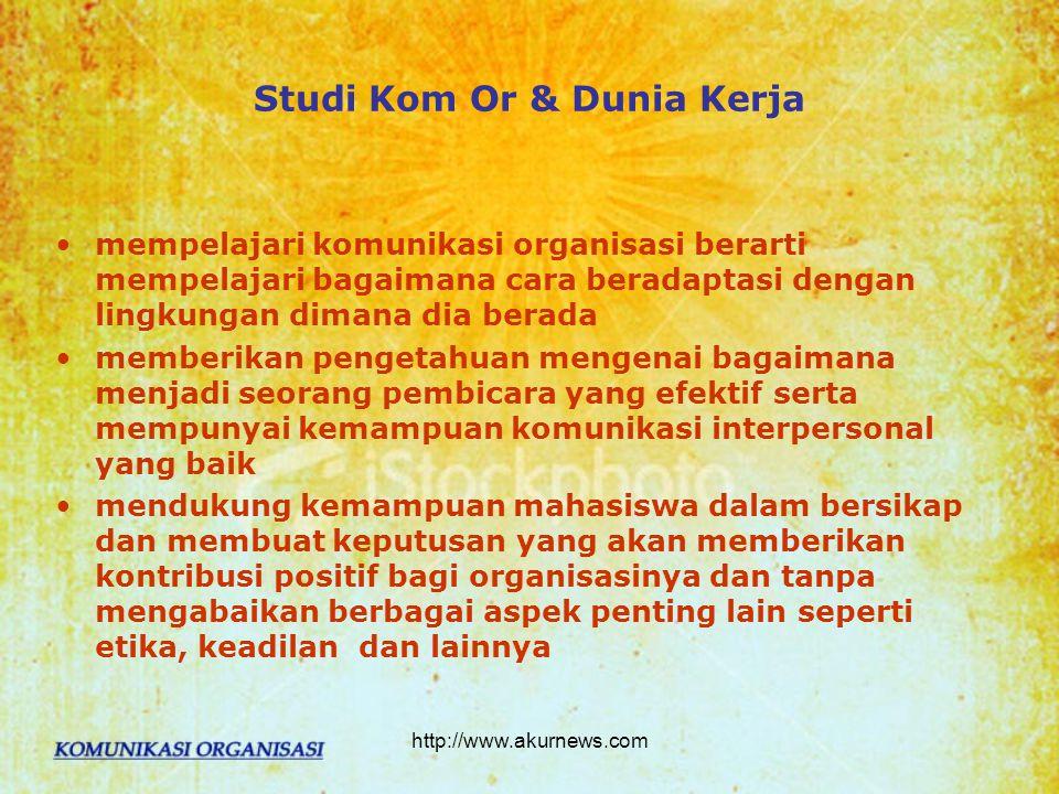 Studi Kom Or & Dunia Kerja