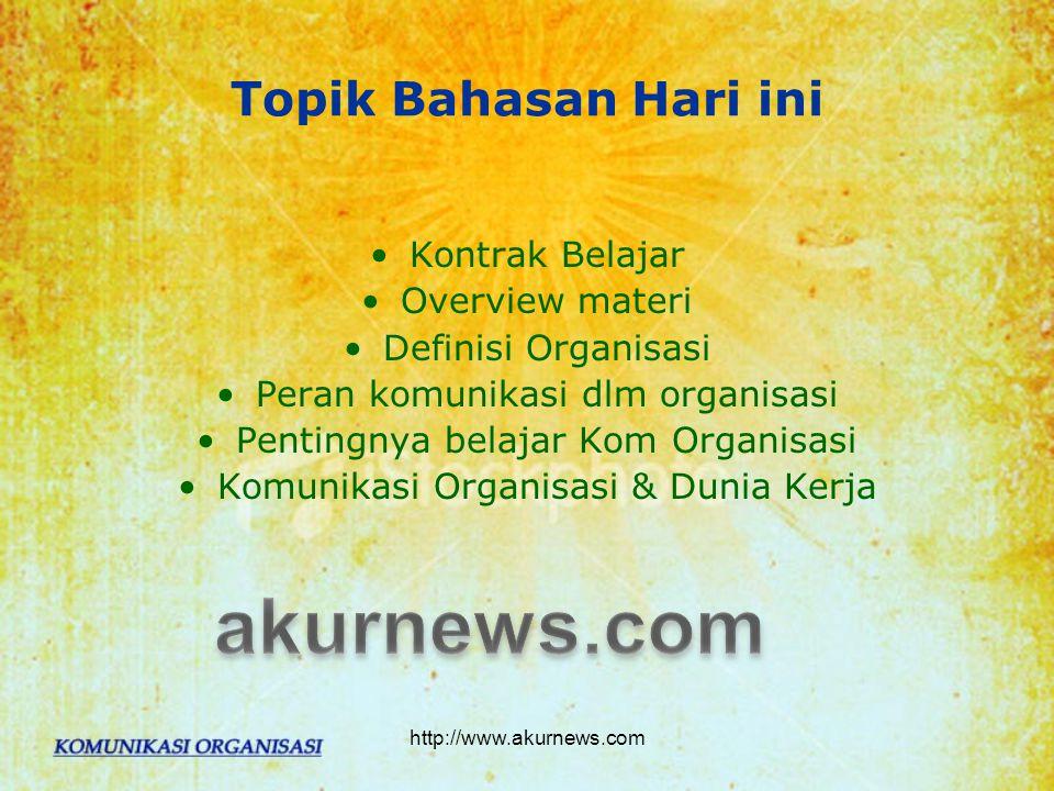 akurnews.com Topik Bahasan Hari ini Kontrak Belajar Overview materi