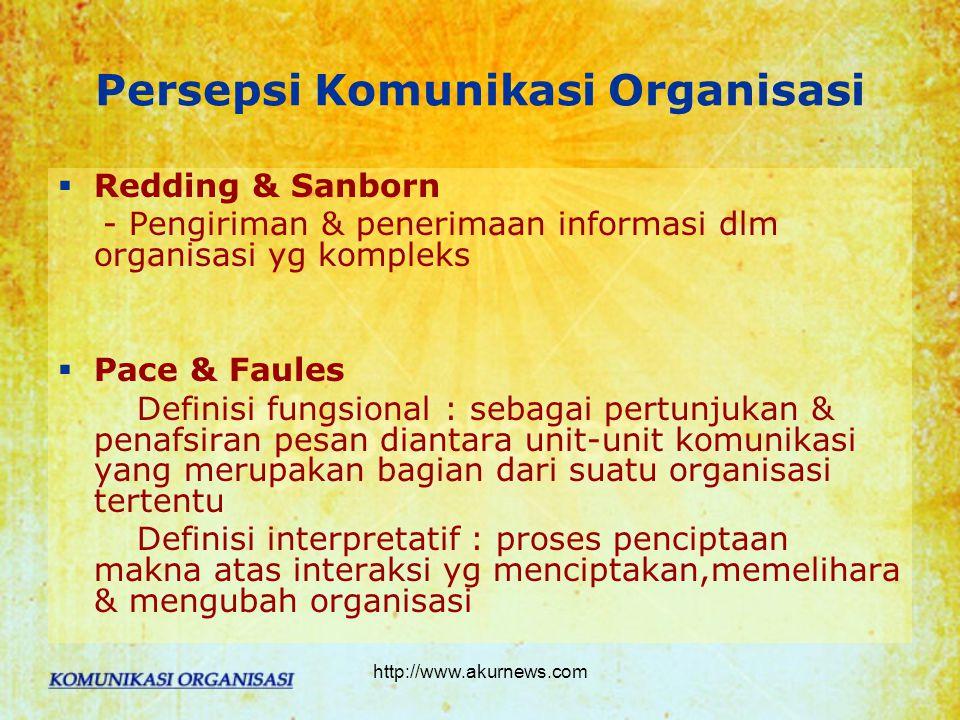Persepsi Komunikasi Organisasi