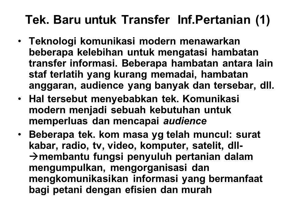Tek. Baru untuk Transfer Inf.Pertanian (1)
