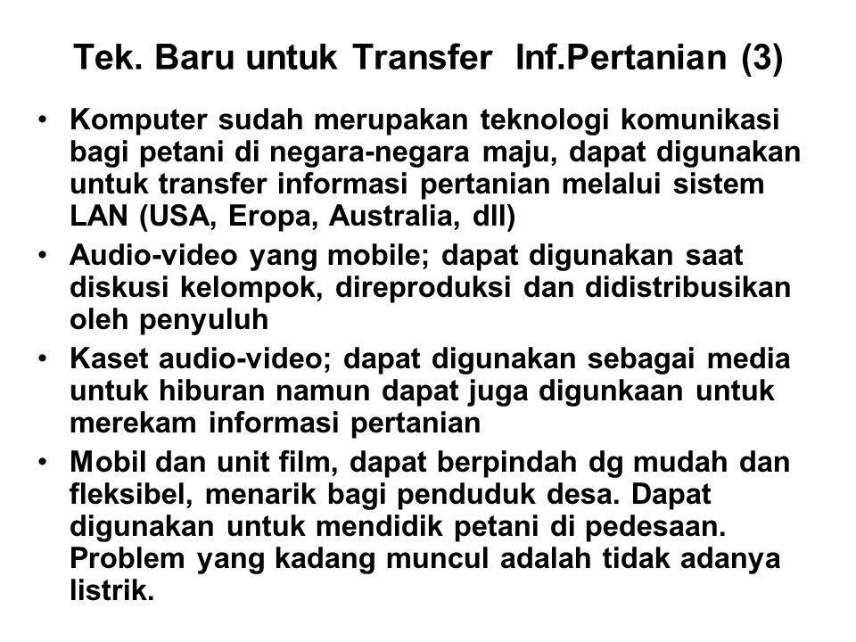 Tek. Baru untuk Transfer Inf.Pertanian (3)