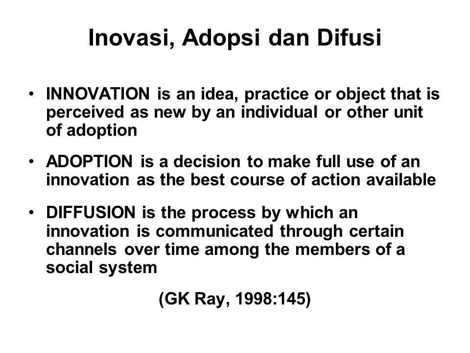 Inovasi, Adopsi dan Difusi
