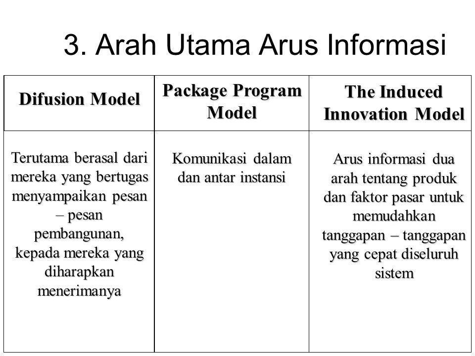 3. Arah Utama Arus Informasi