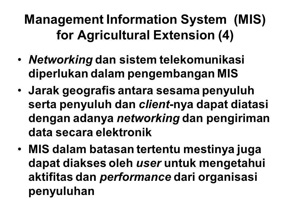 Management Information System (MIS) for Agricultural Extension (4)