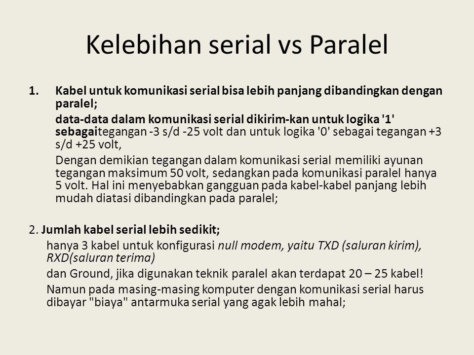 Kelebihan serial vs Paralel