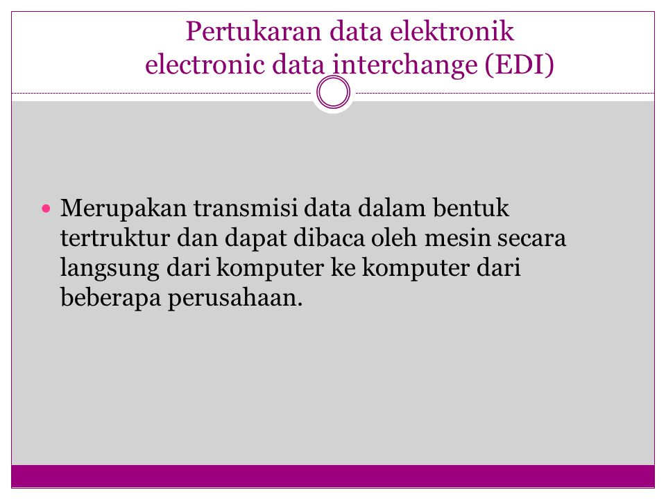 Pertukaran data elektronik electronic data interchange (EDI)