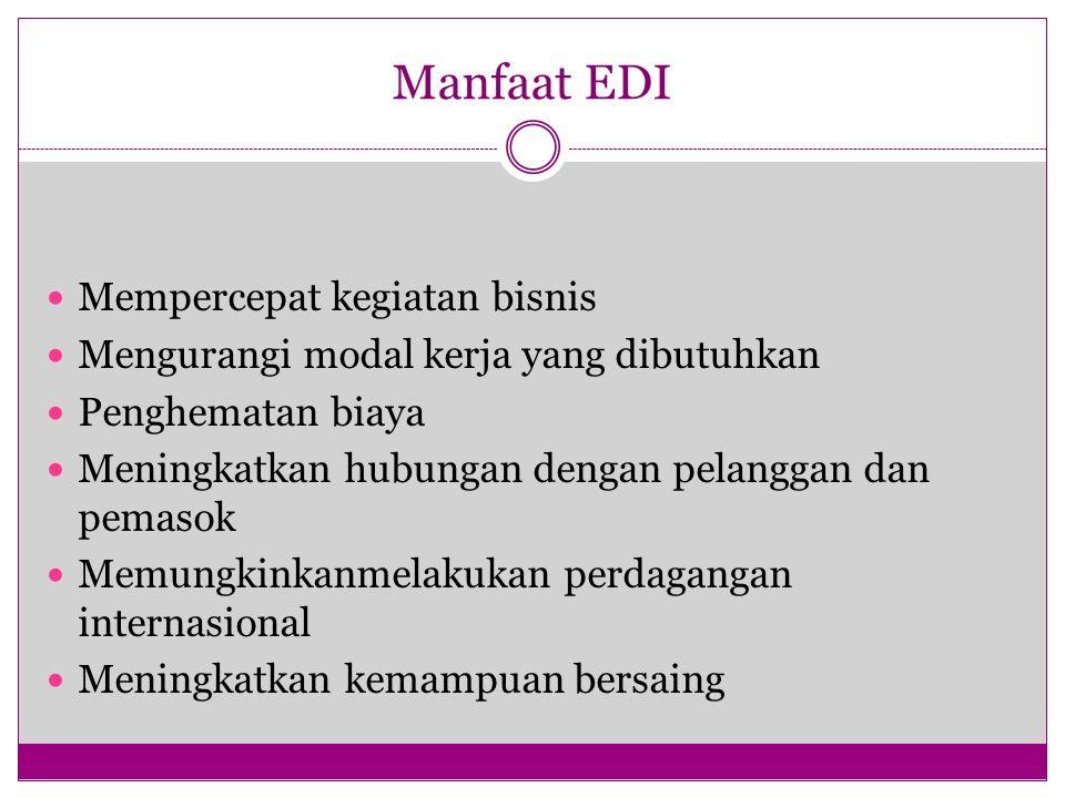 Manfaat EDI Mempercepat kegiatan bisnis