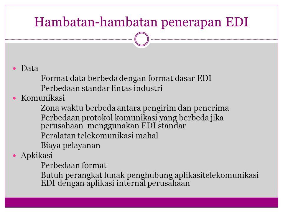 Hambatan-hambatan penerapan EDI