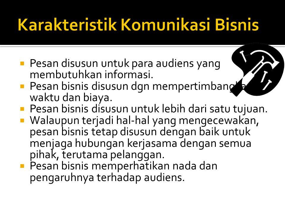 Karakteristik Komunikasi Bisnis