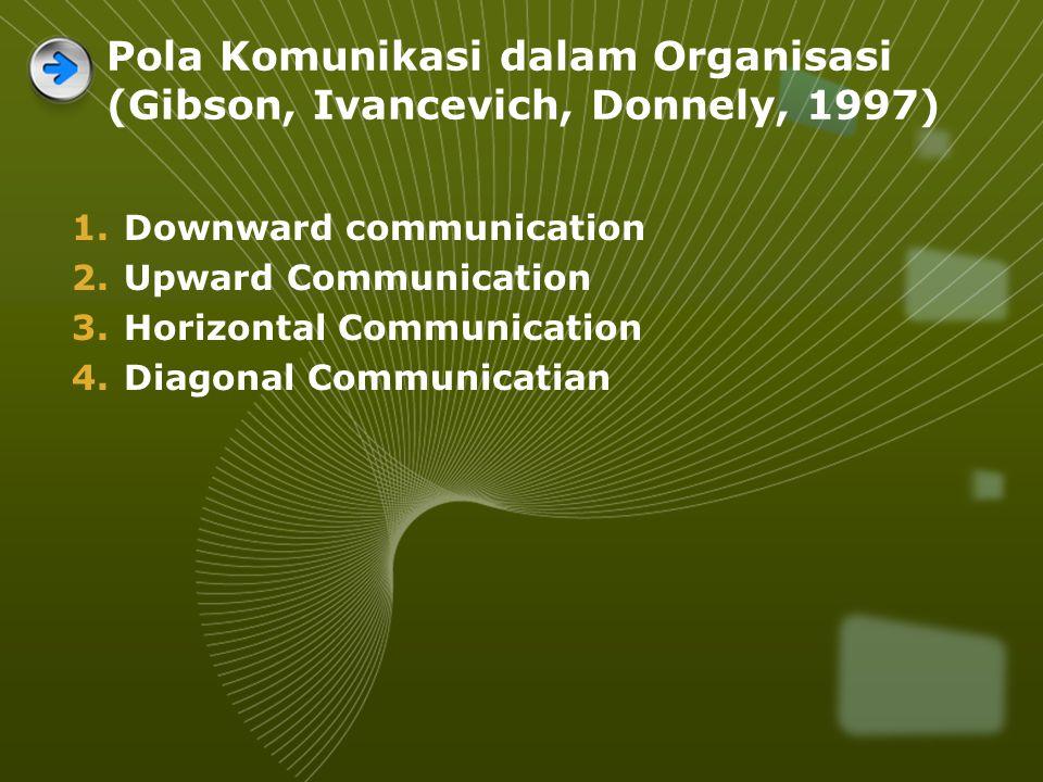 Pola Komunikasi dalam Organisasi (Gibson, Ivancevich, Donnely, 1997)