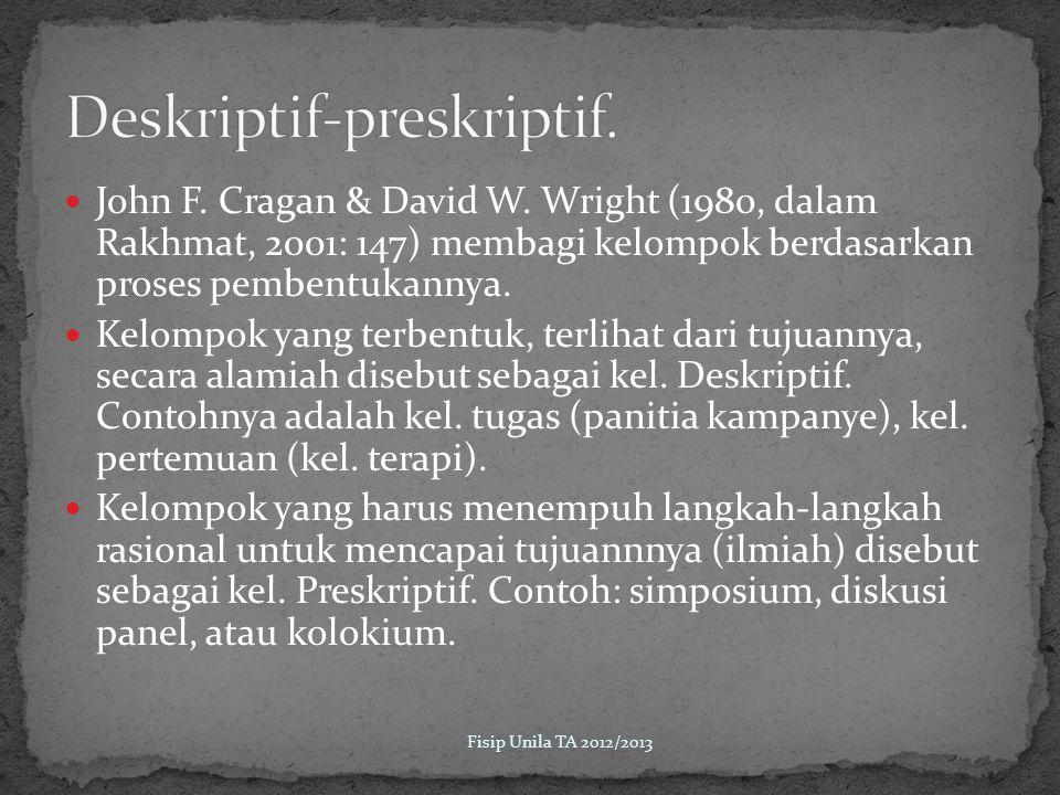 Deskriptif-preskriptif.