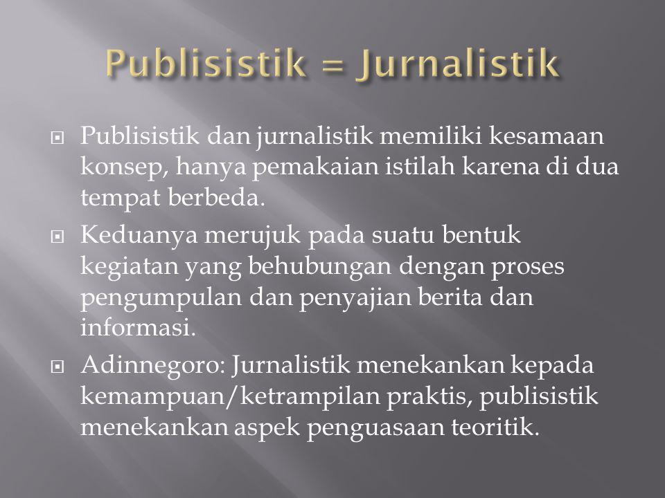 Publisistik = Jurnalistik