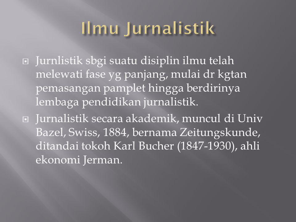 Ilmu Jurnalistik