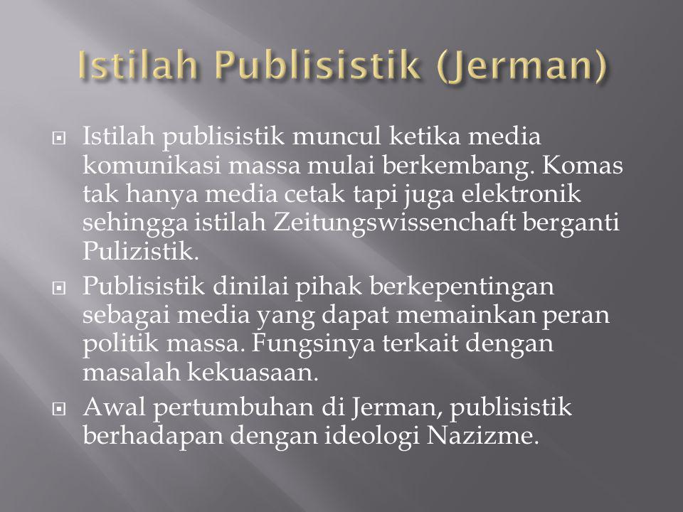 Istilah Publisistik (Jerman)