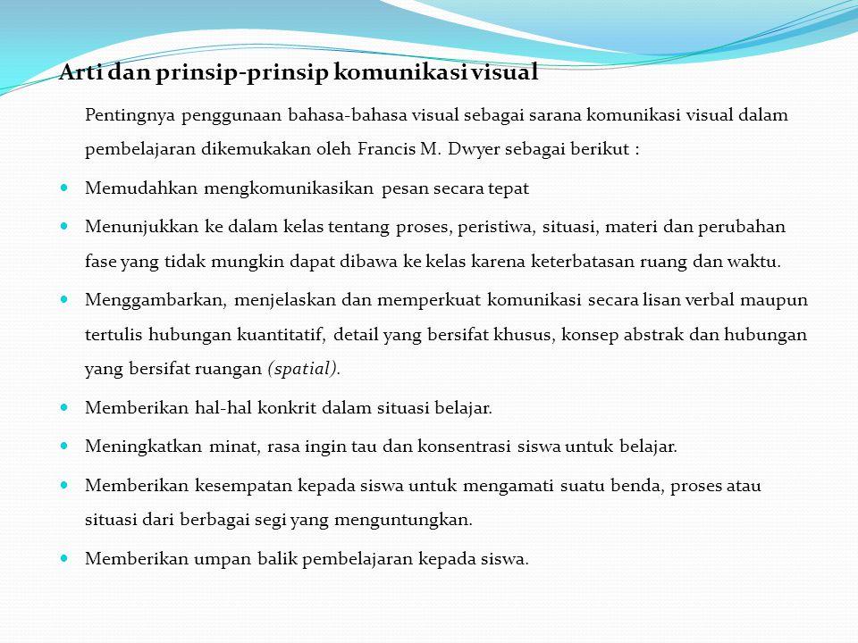 Arti dan prinsip-prinsip komunikasi visual