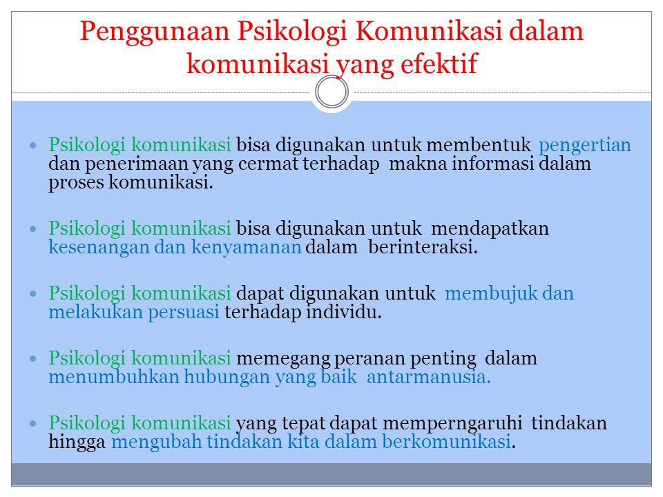 Penggunaan Psikologi Komunikasi dalam komunikasi yang efektif