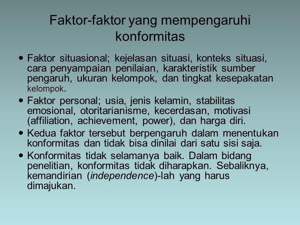 Faktor-faktor yang mempengaruhi konformitas