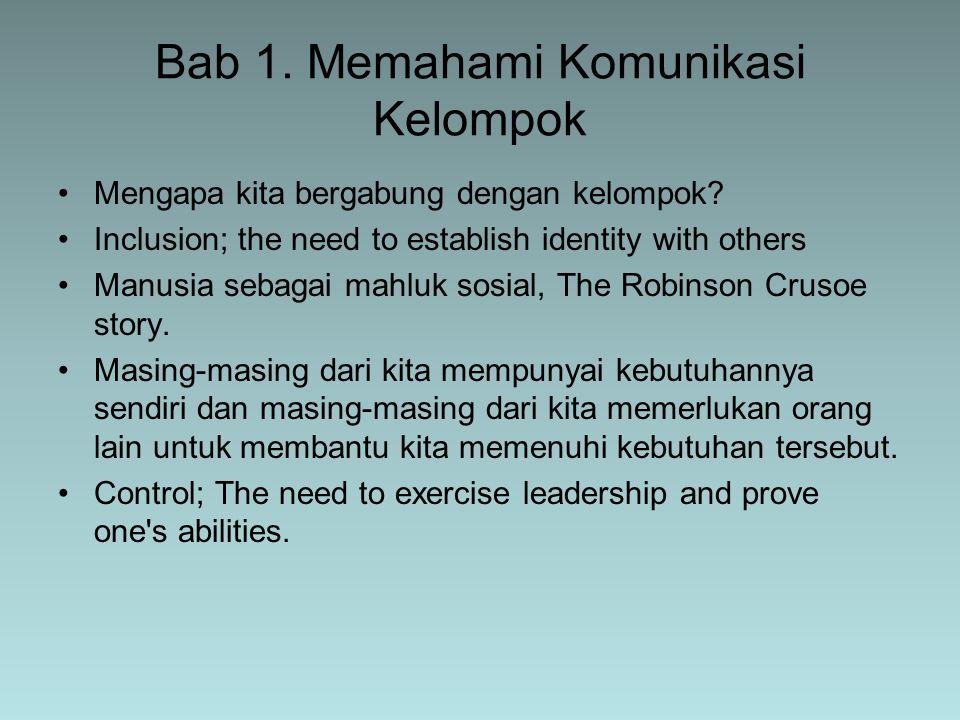 Bab 1. Memahami Komunikasi Kelompok