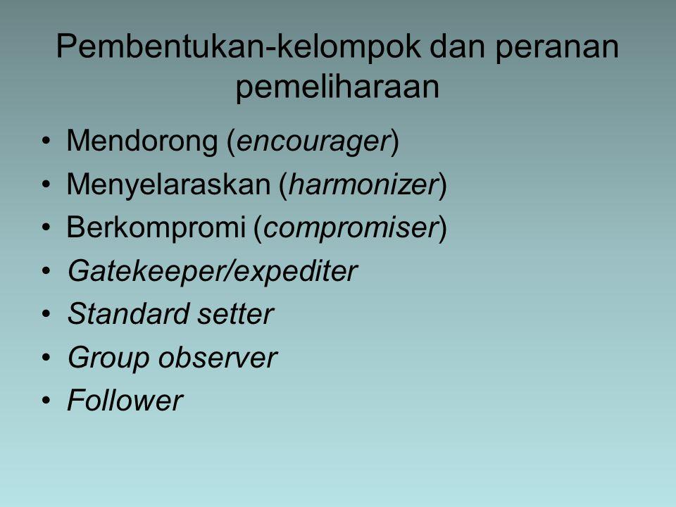 Pembentukan-kelompok dan peranan pemeliharaan