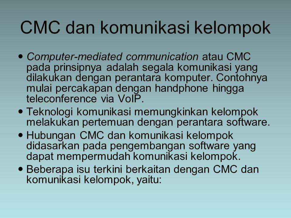 CMC dan komunikasi kelompok