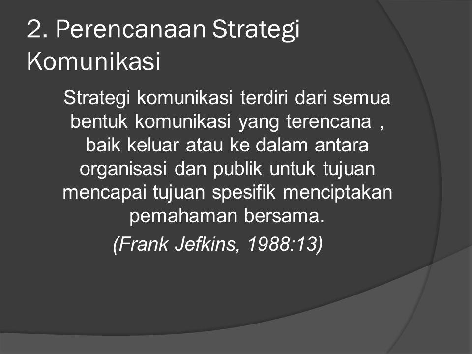 2. Perencanaan Strategi Komunikasi