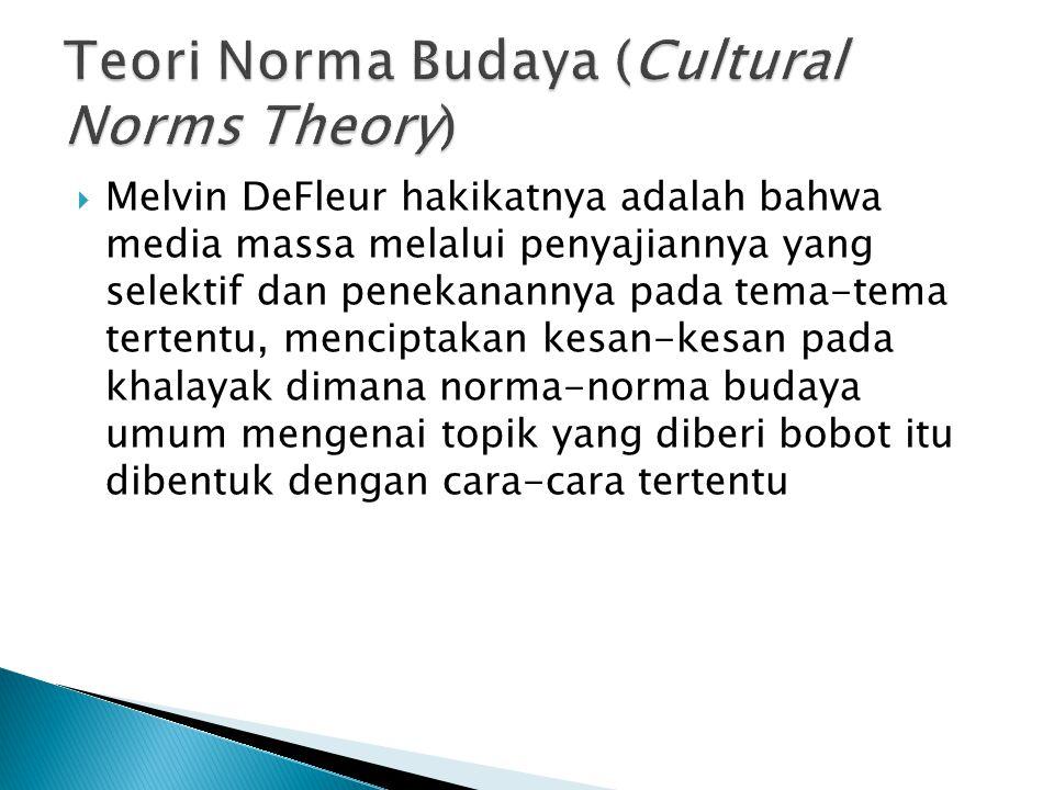 Teori Norma Budaya (Cultural Norms Theory)