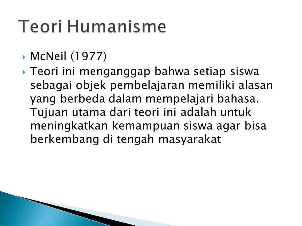 Teori Humanisme McNeil (1977)