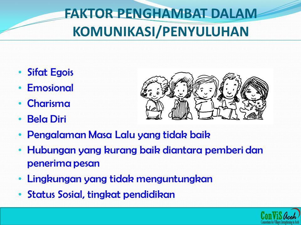 FAKTOR PENGHAMBAT DALAM KOMUNIKASI/PENYULUHAN