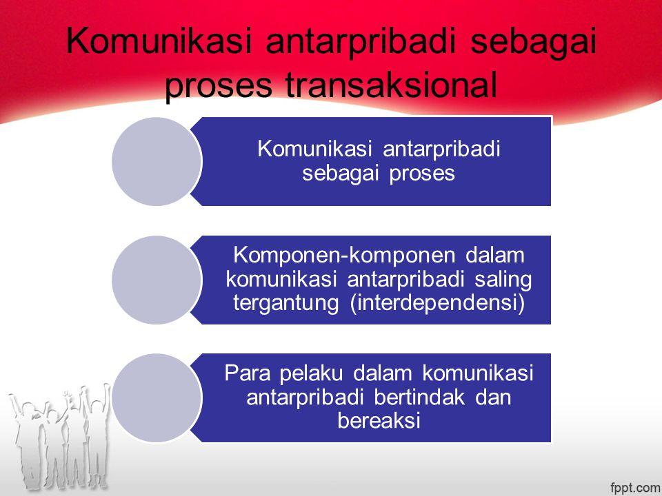 Komunikasi antarpribadi sebagai proses transaksional